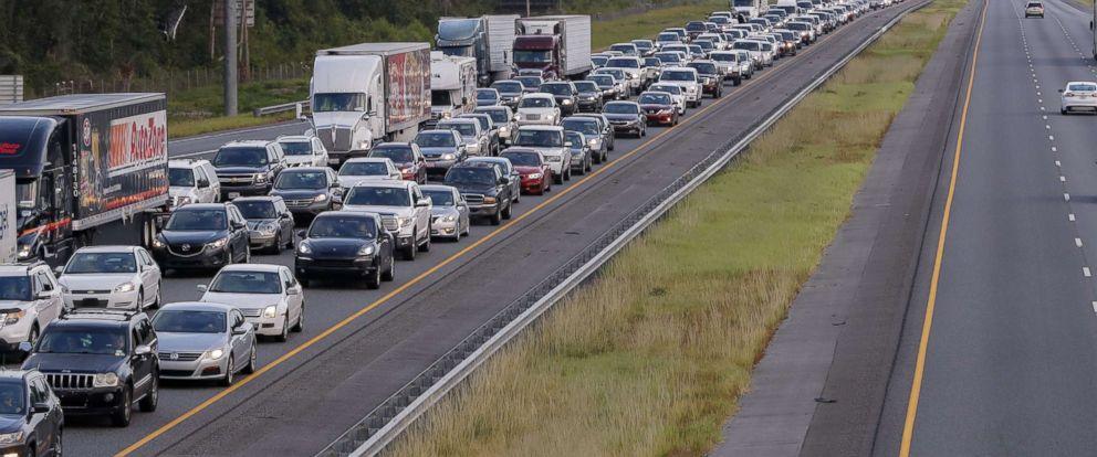 Traffic jam in Florida