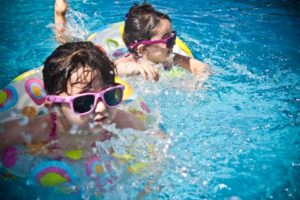 Kids in the pool.
