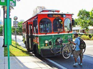 A tram.