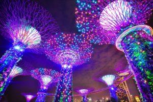 Neon psychodelic trees