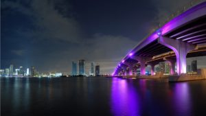 Miami at night, Landscape
