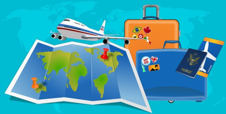 When your company is relocating you, make sure you know what is in employer relocation packages - a map, plane and suitcases