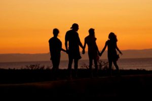 Moving to Lebanon with kids - family at sunset
