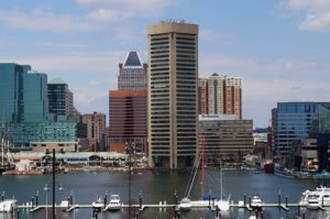 Baltimore skyline.