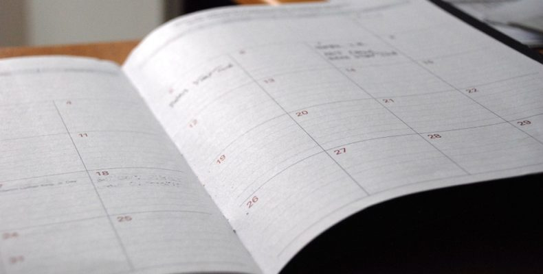 a day planner which is neccesary when you have to move in a week