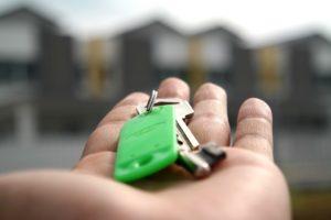 a hand holding keys