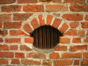 medieval brick window