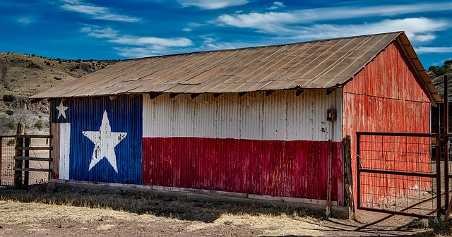 Texas flag barn, job opportunities in Texas