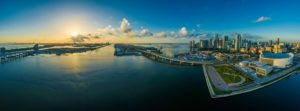 Panoramic view of Miami during day time to illustrate real estate investments i Miami