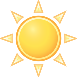 An illustration of the sun you will enjoy throughout the year after retiring in Miami Dade County.