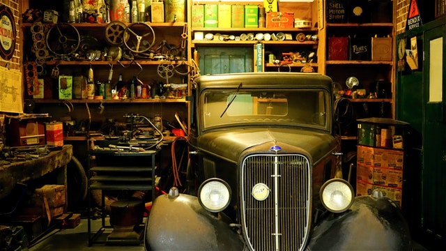 Packing your garage in clutter.