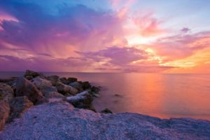 A sunset you will enjoy after moving into your new Florida home.