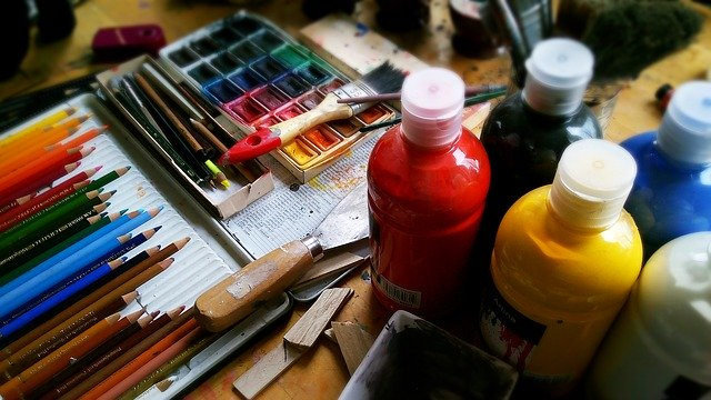 Painting supplies.