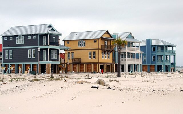 Homes on the beach.