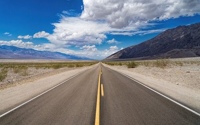 A road you will take when moving from Miami to extremely dry climate.