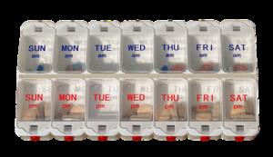 Plastic organizer for medication