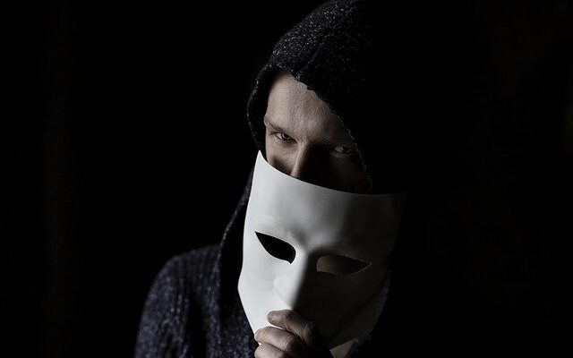 A man with a mask.