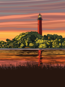 An illustration of a lighthouse.