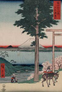 Ukiyo e print, adored in Japan
