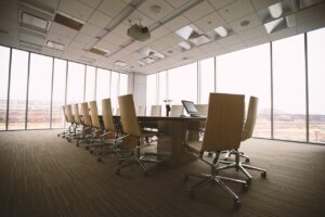 A conference room you can still have after relocating your business and downsizing.