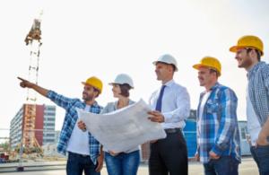 Contractors working