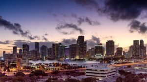 The view of Miami, one of the best Florida cities for start-up companies.