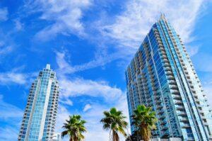 Skyscrapers in Tampa.
