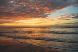 sea under sunset
