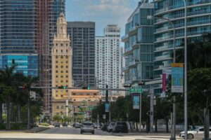 Street in Brickell, one of the best Miami locations for opening a new office