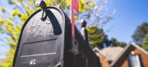 Old fashioned mailbox