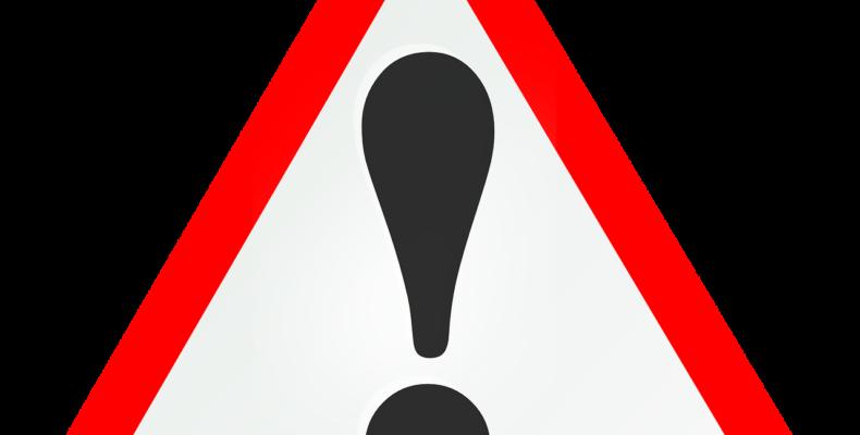 A sign indicating a warning.